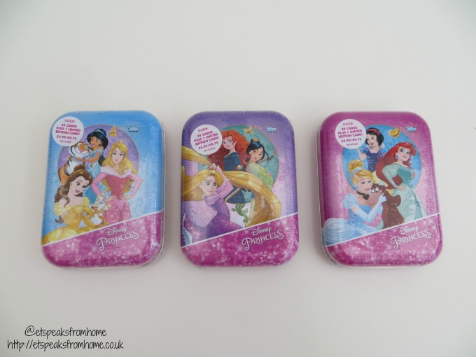 Topps Disney Princess Trading Card Game collector tin