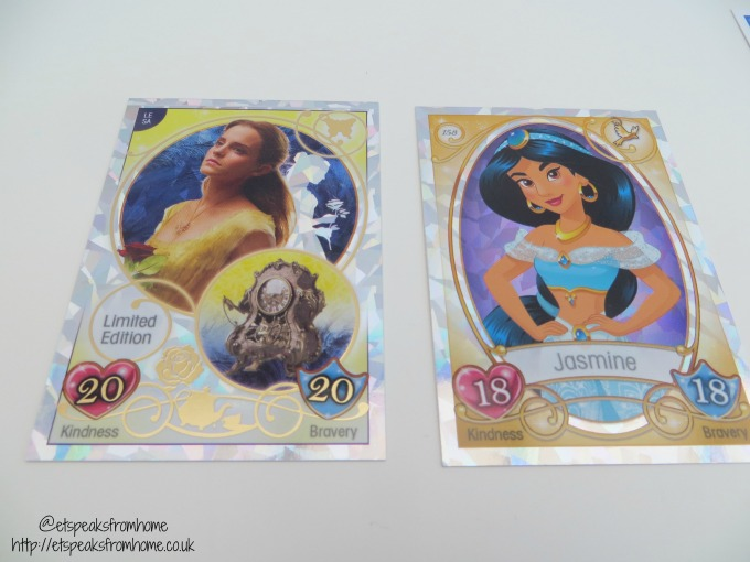 Topps Disney Princess Trading Card Game sparkly card