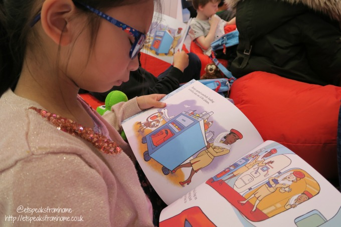 Emirates Flight Time Stories Event reading