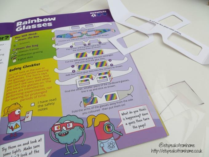 Letterbox lab rainbow glasses