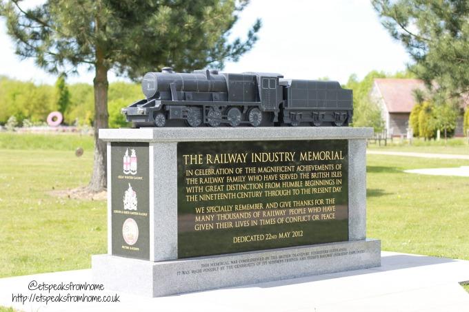 Explore Lichfield and surrounding areas National Memorial Arboretum train