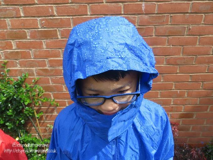 dry kids waterproof jacket royal blue
