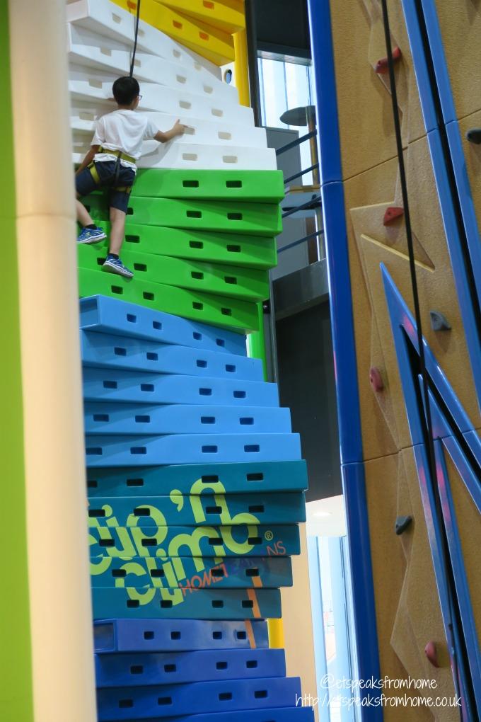 Clip n Climb at Tampines Hub HomeTeamNS steps