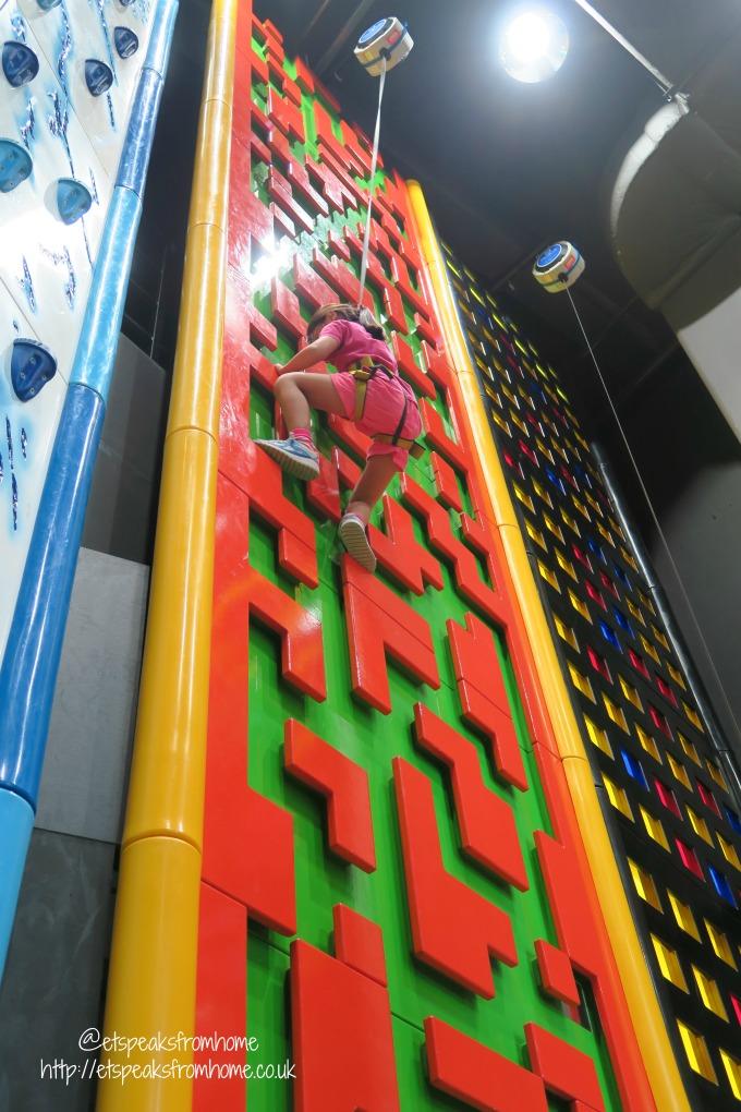 Clip n Climb at Tampines Hub tetris