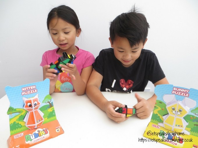 rubiks junior puzzle playing