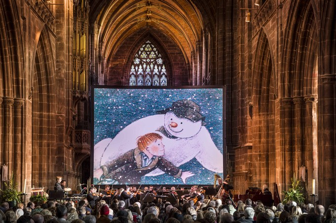 the snowman tour at chester cathedral Photography © Tom Bangbala