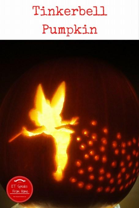 Halloween Pumpkin Carving Challenge Tinkerbell pumpkin