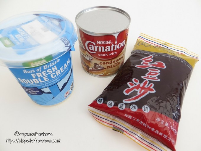 galleoneers monthly recipe - japan eats red bean ice cream