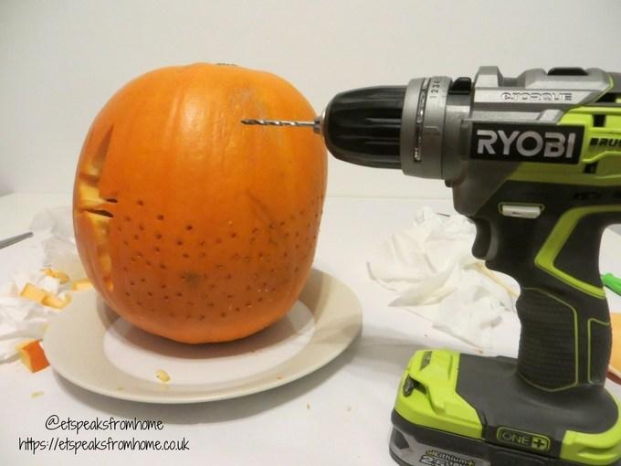 halloween pumpkin carving challenge - tinkerbell pixie dust