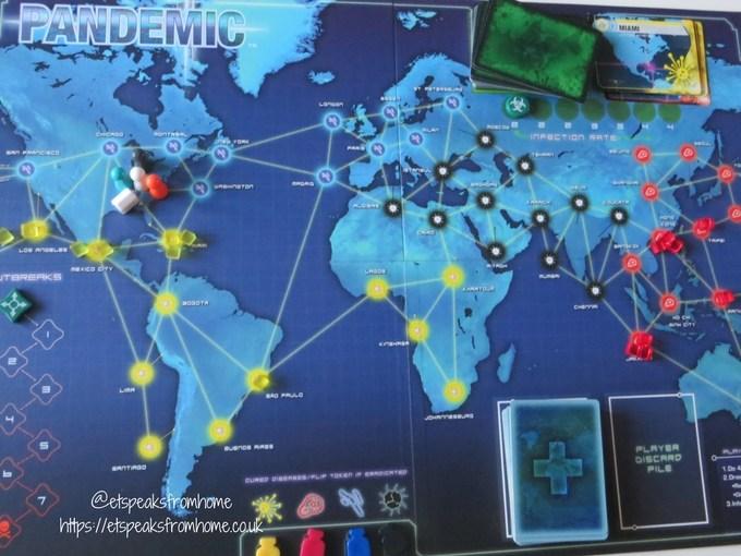 pandemic board game set up