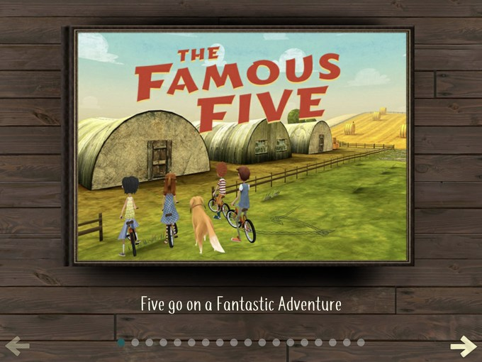 the famous five the adventure game app story book