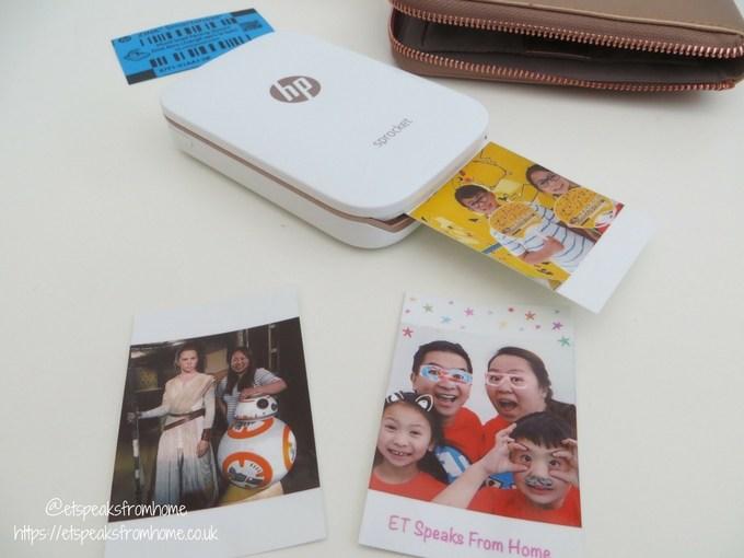 HP Sprocket Photo Printer zink smartsheet