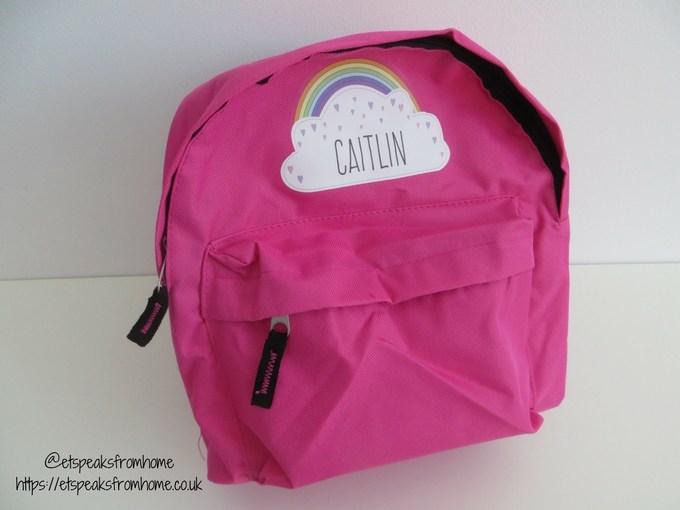 Personally Presented mini backpack