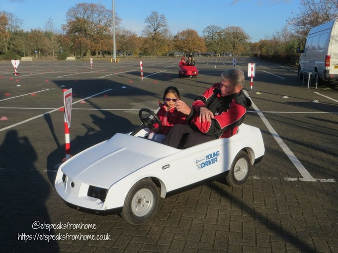 Young Driver Electric Firefly with instructor