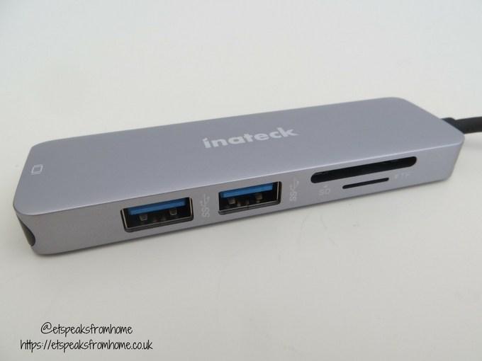 Inateck USB 3.0 Hub ports