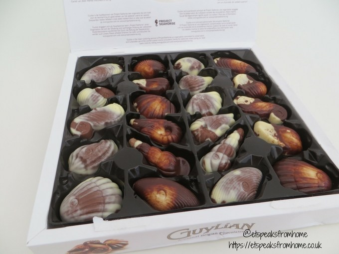 Valentine's Day with Guylian Belgian Chocolate sea shell