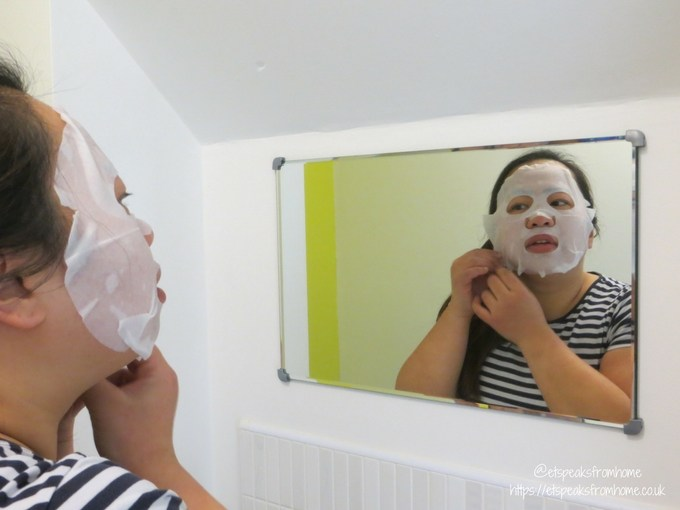 Biocell Face Mask Review applying