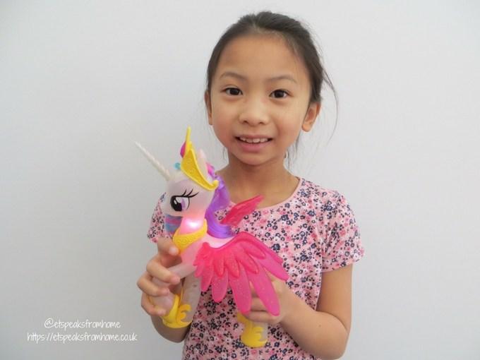 my little pony glitter and Glow Princess Celestia playing