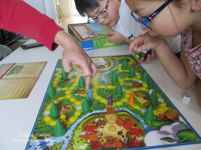 Enchanted Forest Board Game playing