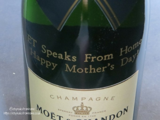 Personalised Alcohol Gifts moet mothers day