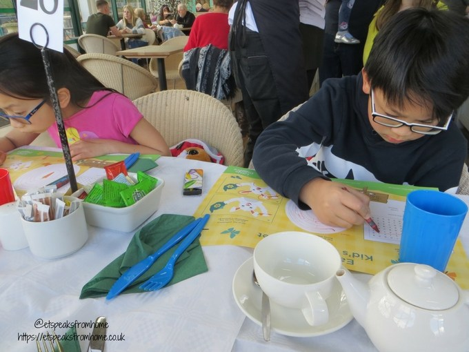 Tea with Easter Bunny at Wyevale Garden Centres activities sheets