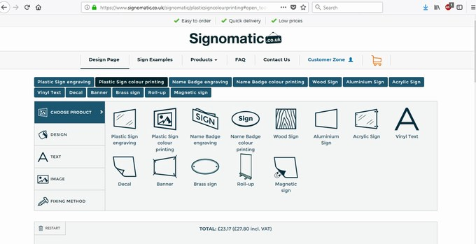 signomatic design page