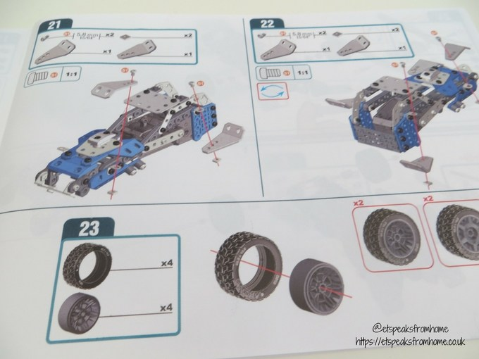Meccano Rally Racer Set instructions