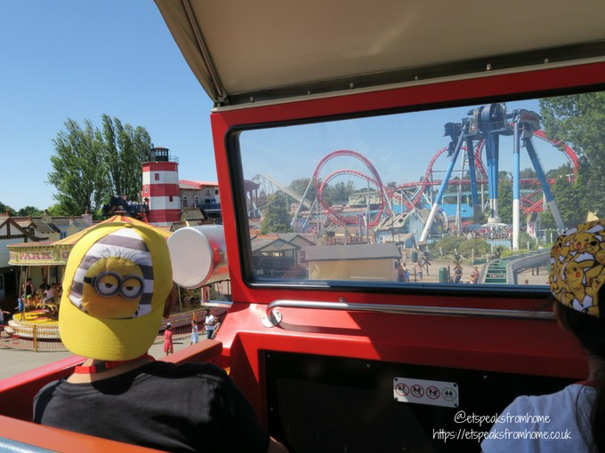Celebrating 10th Anniversary of Thomas Land in car