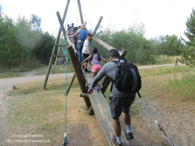 Our Visit to Conkers bridge