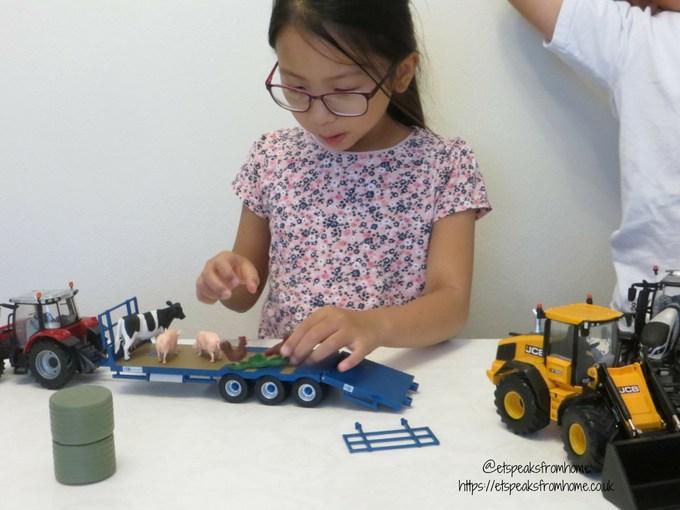 Massey Ferguson Tractor Playset playing