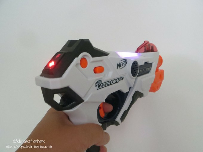 Nerf Laser Ops Pro blaster power on