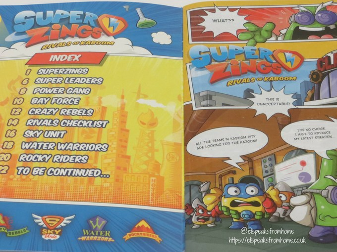 SuperZings series 2 starter pack comic guide book