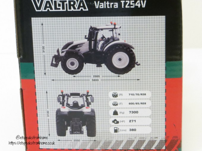 Valtra TZ54V measurement
