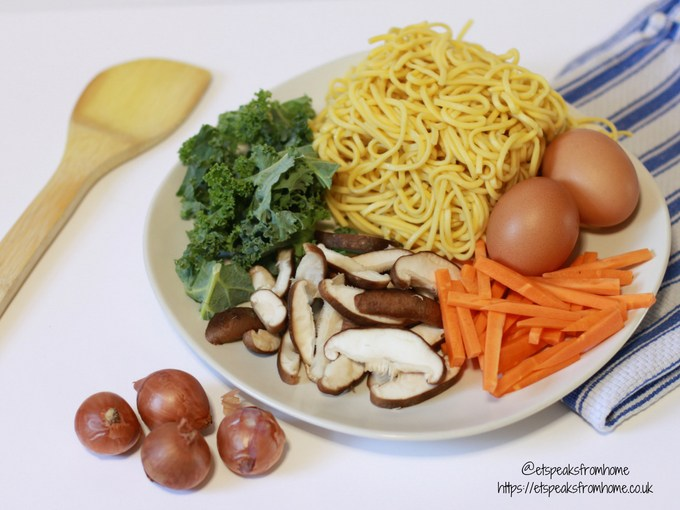 little foodies stir fried yellow noodles eating