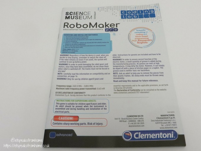Clementoni RoboMaker Pro instructions manual