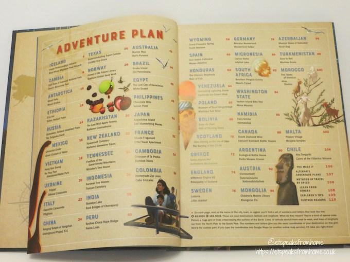 Atlas Obscura Explorer's Guide contents