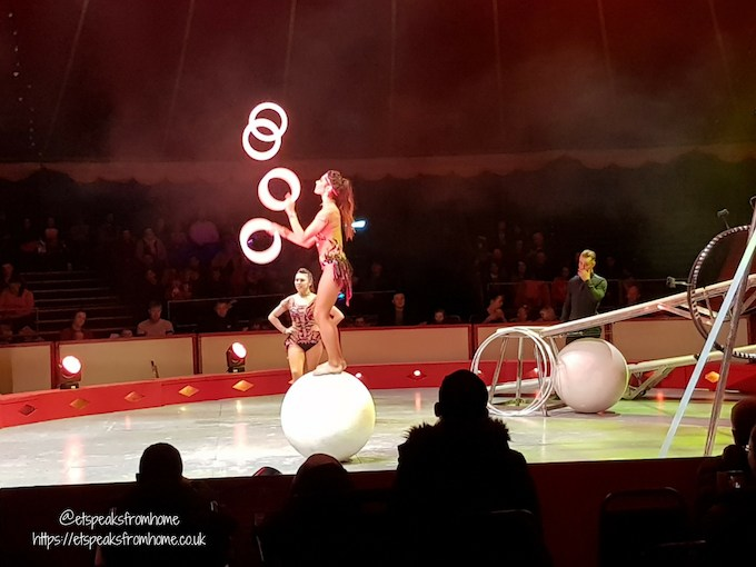 The Gandeys Circus Greatest Showmen Tour ball