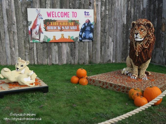 The Great Brick Safari at Twycross Zoo lego animal