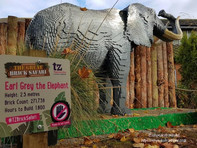 The Great Brick Safari at Twycross Zoo lego elephant