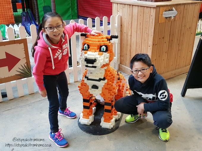 The Great Brick Safari at Twycross Zoo tiger