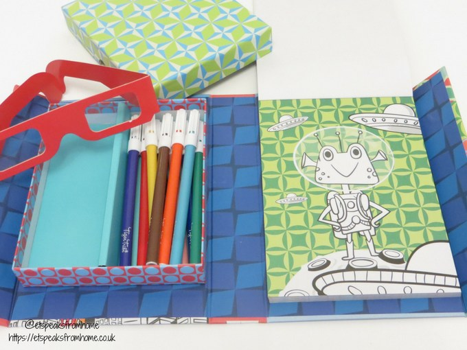 Tiger Tribe Crafts 3d colouring set with pens