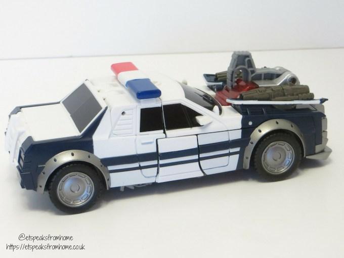 Transformers Barricade police car back