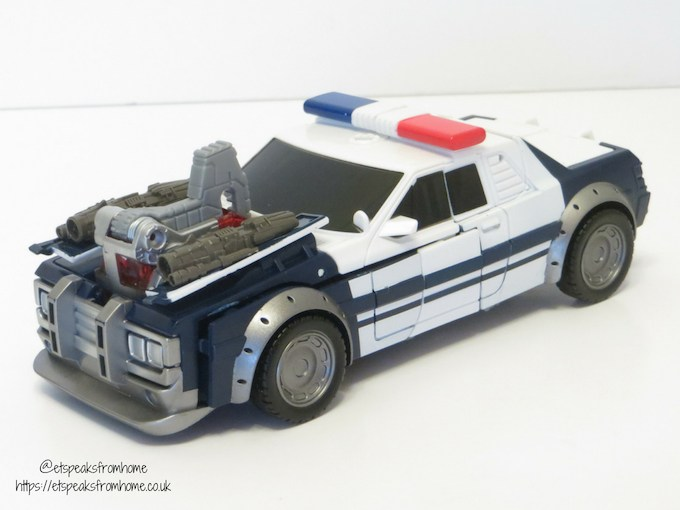 Transformers Barricade police car front