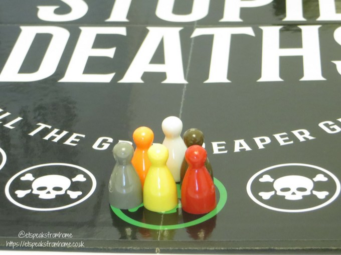 stupid deaths game board