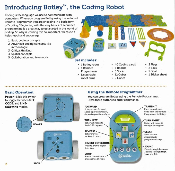 Botley The Coding Robot instructions