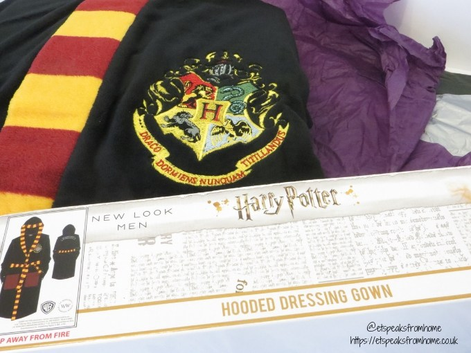 Harry Potter Pyjama hooded dressing gown logo