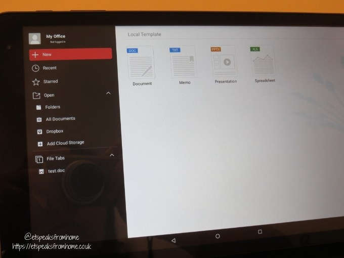 kurio smart 2 in 1 tablet wps office