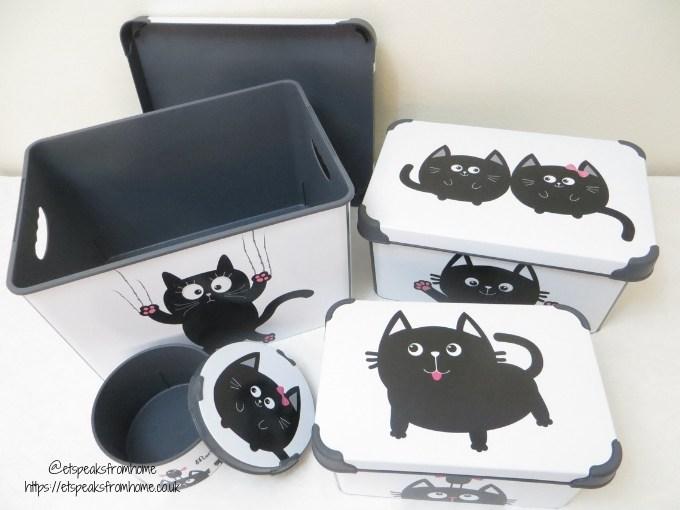 Maqio Boxes set of 4 decorative boxes cat