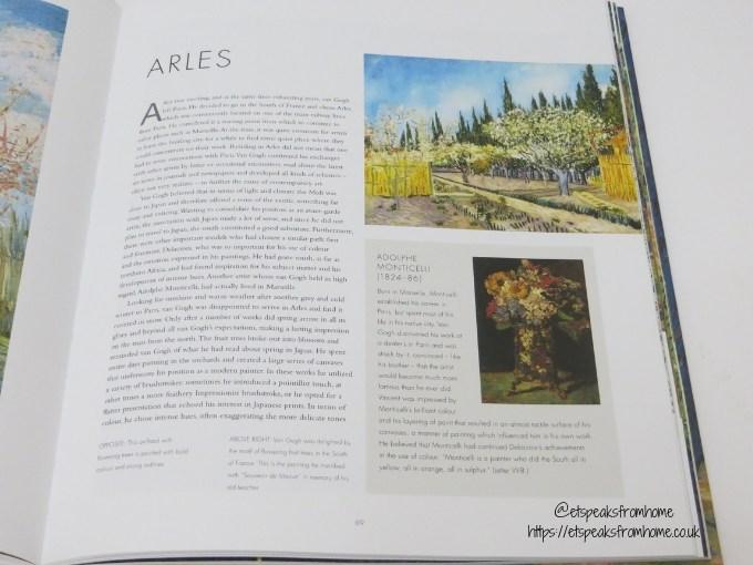 Vincent van Gogh Book content