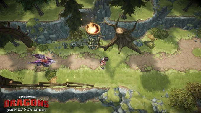 DreamWorks Dragons Dawn of New Riders playing